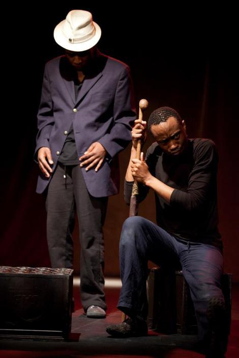 Masiza Mbali (left) now playing Joseph and Simpho Mathenjwa playing Zanemvula. The two actors swap characters.