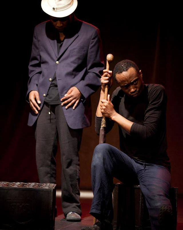 Masiza Mbali (left) now playing Joseph and Simpho Mathenjwa playing Zanemvula. The two actors swap characters.