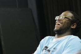 Oupa enjoying a great laugh.
