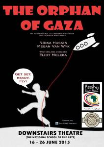 Megan van Wyk & Nidaa Husain featured in Eliot Moleba play Orphan of Gaza